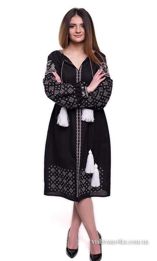 Гарне чорне вишите плаття SL12 купити в інтернет-магазині 46411713269a3