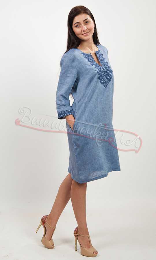 Женское платье вышиванка на льне 5495 d48b7e9c3bcee
