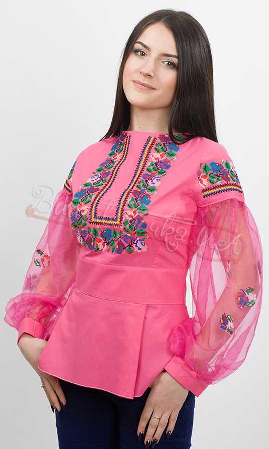 Дизайнерська жіноча сорочка вишиванка Ч 7101 - фото 2 vishivano4ka.com.ua b2c520f4146d6