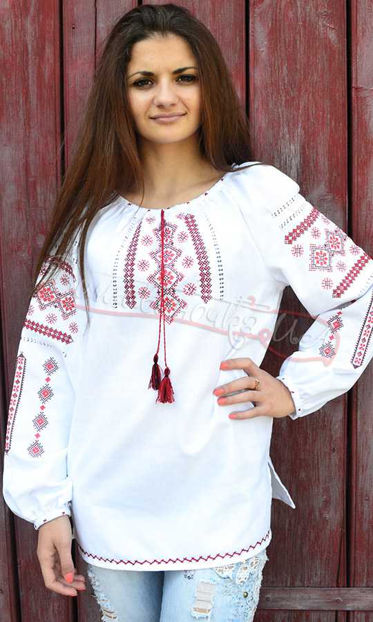 Блузка Украинская Вышиванка Купить