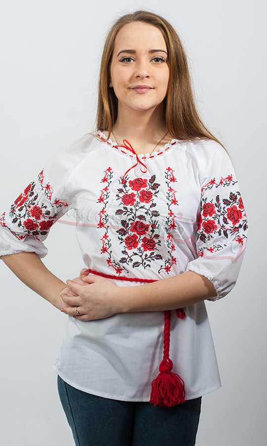 c5807940addfa1 Вишиванка жіноча, вишивка хрестиком 3742 купити в інтернет-магазині
