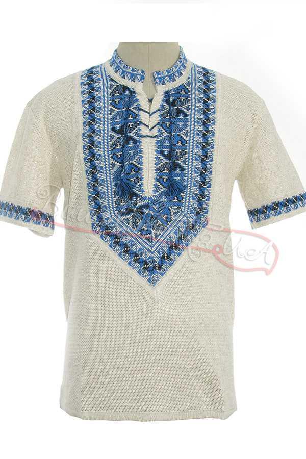 Купити чоловічу вишиванку з льону в Києві  28f8fcc7de3ef