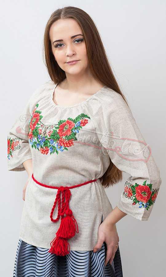Блузка с вышивкой женская купить