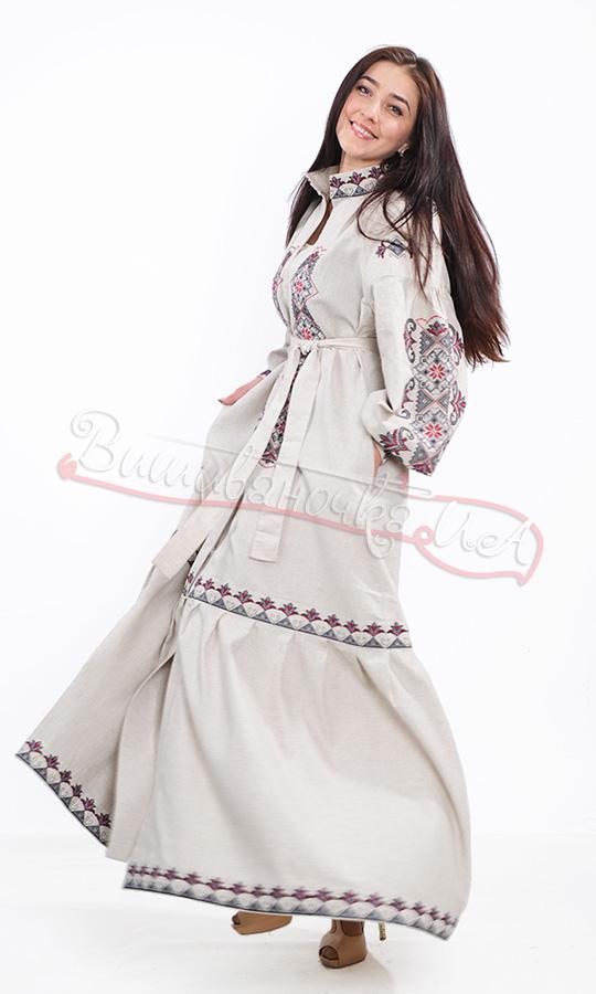 4ffe6632438ff3 Ексклюзивне плаття з натурального льону 7229 купити в інтернет-магазині