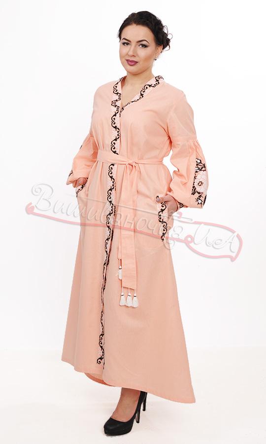 Ніжне плаття в пастельному кольорі з квітковою вишивкою 7223 купити ... 21dfa2a6544ce