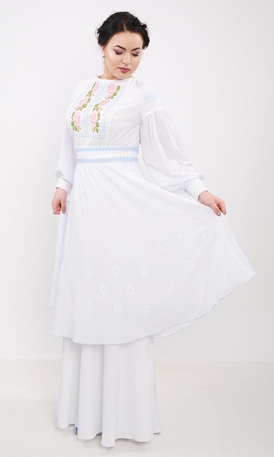 29036ee5a5e65b Весільне плаття з вишивкою 7238 купити в інтернет-магазині