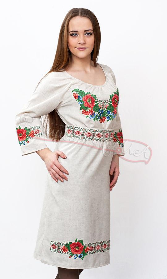 Плаття з вишивкою хрестиком 0074 1b0d010fa36f3