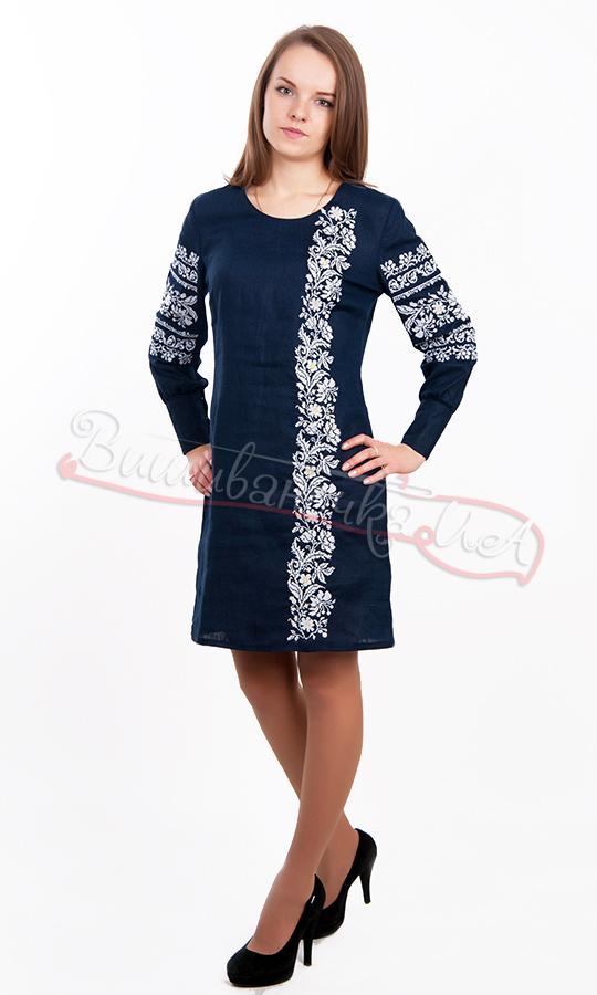 Льняное женское платье с вышивкой 5540 9a149e8086b82