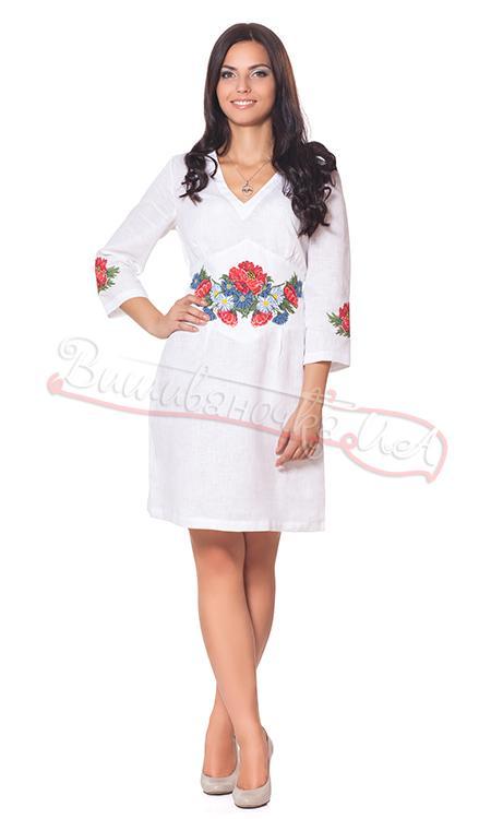 Жіноча лляна сукня з вишивкою СЛ 125 12c64fe0643db