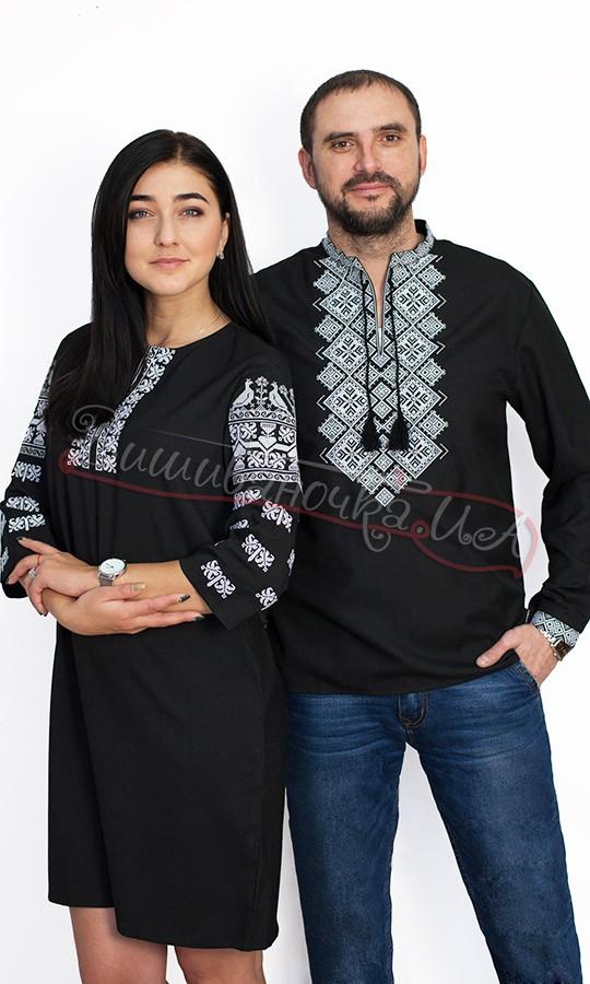 Жіноче плаття та чоловіча вишиванка в чорному кольорі 7. b011332f79dc1