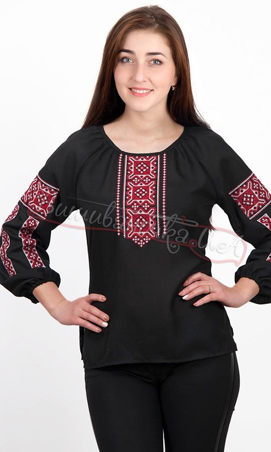 Вишиванка жіноча чорного і білого кольору 5555 купити в інтернет ... 006de01d3d2e6