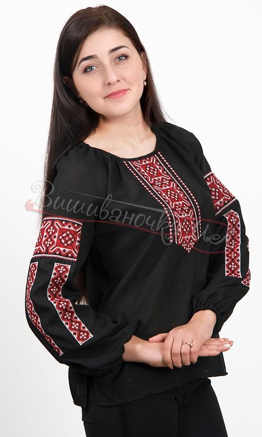 Вишиванка жіноча чорного і білого кольору 5555 - фото 3 vishivano4ka.com.ua 8256e68f4abe7