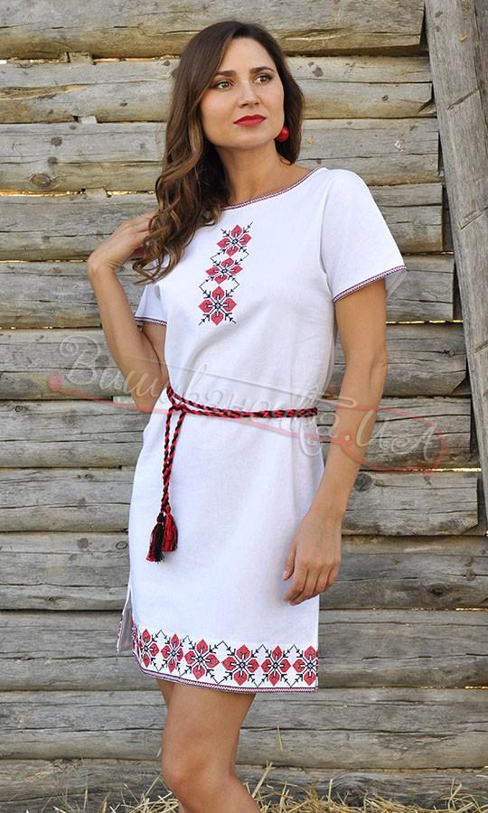 Коротке біле вишите плаття П21 купити в інтернет-магазині 00a1a583749d0
