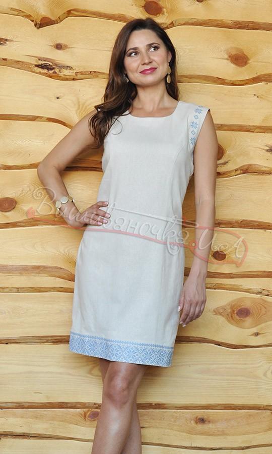 Жіноче плаття з синьою вишивкою П01 5a3bd88ef4f9d