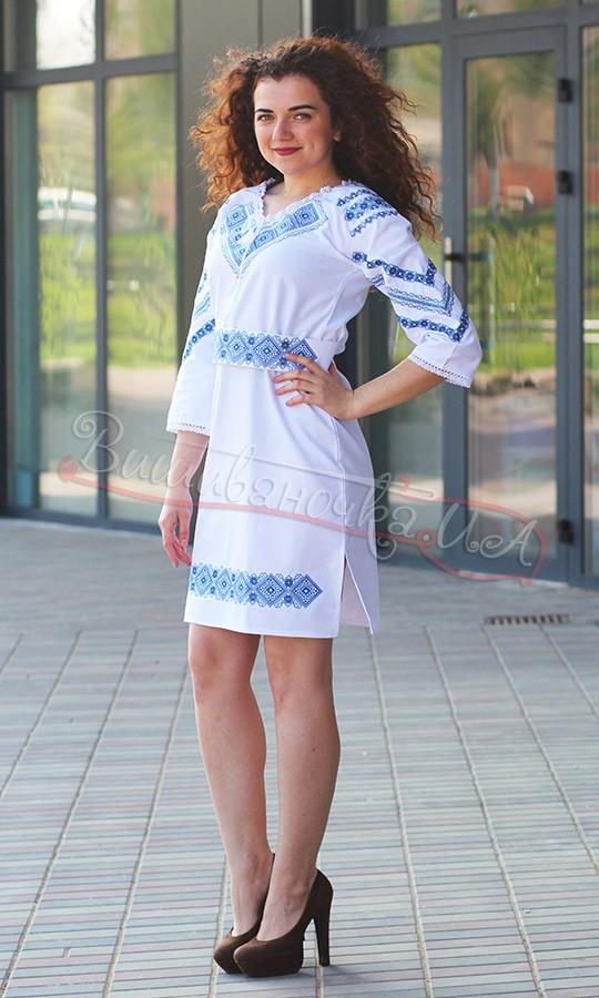 Женское платье с геометрической вышивкой 5471 38c3a46e54544