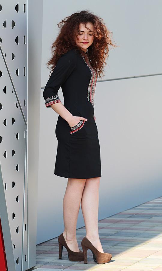 Чорне жіноче плаття з вишивкою 4114. 600 грн. 8997e422c56d2