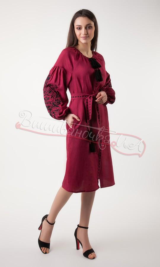 Плаття з вишивкою дерева життя з натурального льону 3336 купити в ... 713bd8482d8ad